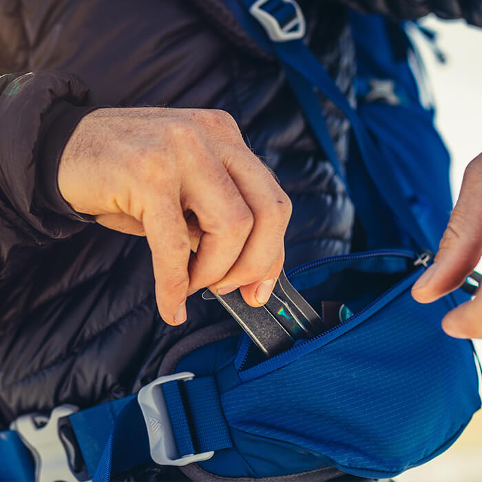 Extra große Hüftgurttaschen für moderne Smartphones und Digitalkameras
