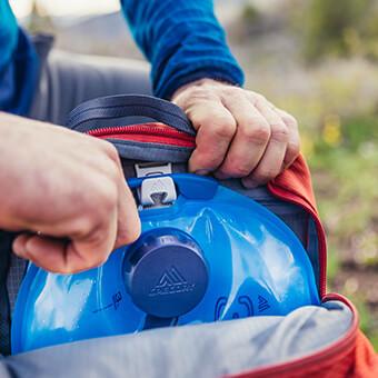 Day Hiking Modus - Kompatibel mit jedem Gregory Rucksack, der die SpeedClip Befestigung besitzt für einfache Benutzung bei Tagestouren