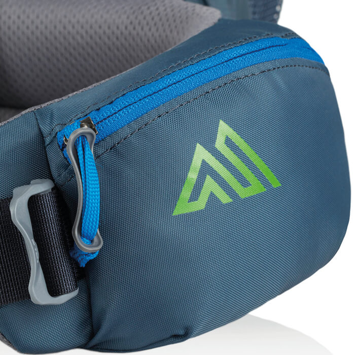 Dual zippered hipbelt pockets