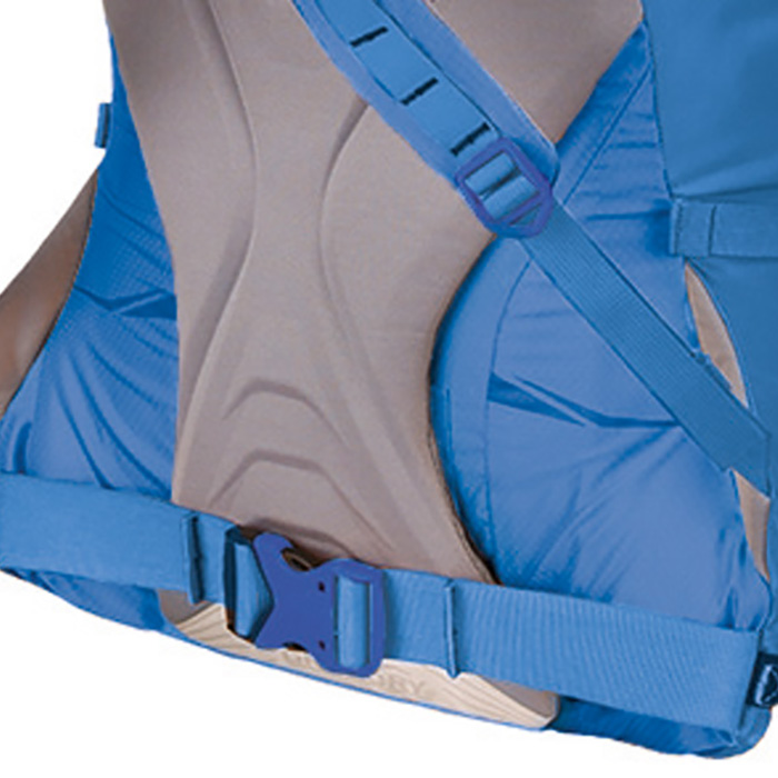 Removable hipbelt padding for weight savings