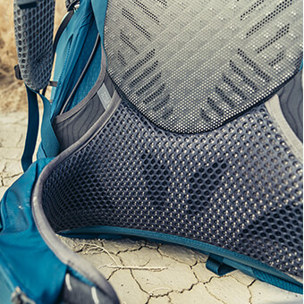 FreeFloat breathable suspension with dynamic flex panels