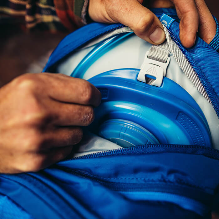Housse d'hydratation zippée avec système d'intégration rapide « SpeedClip » – compatible avec toutes les poches Gregory 3D Hydro