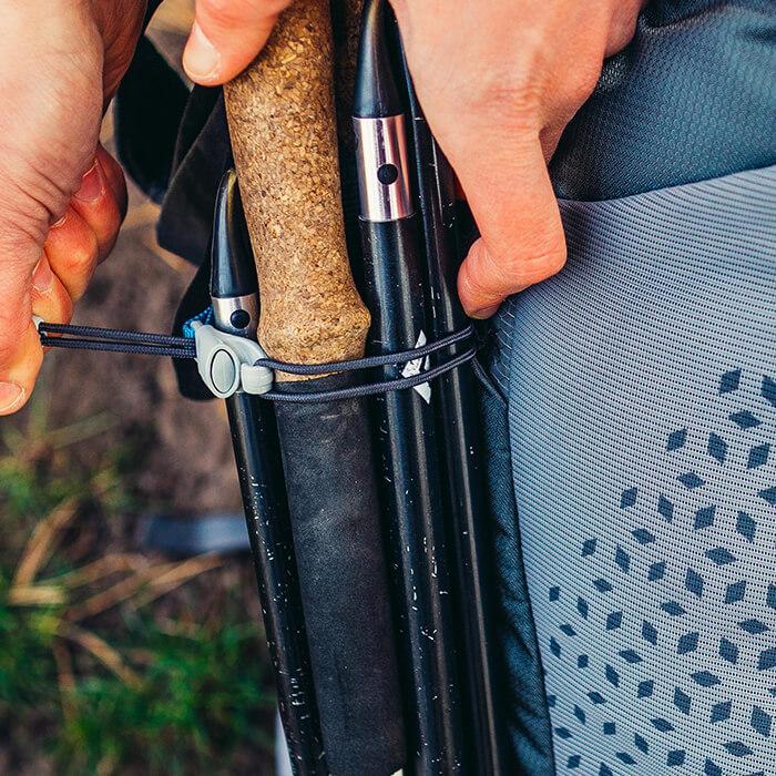 Bucle de sujeción ajustable para bastones de trekking o piolets