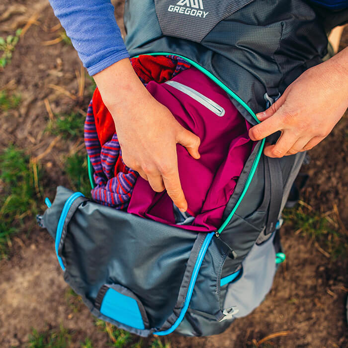 U-Zip : ouverture complète à l'avant du sac