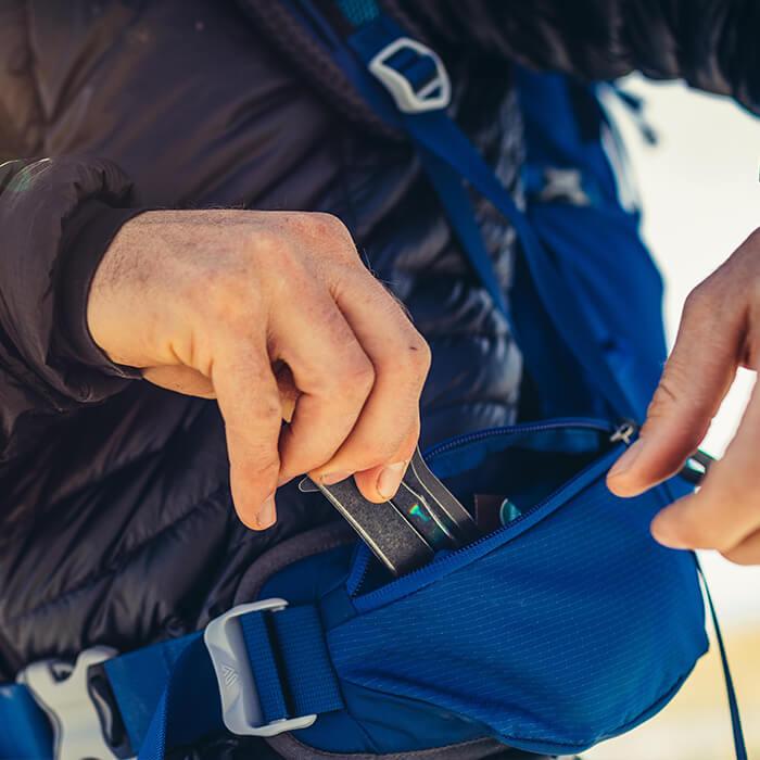 Tasche extra large sulla cintura lombare, per riporre cellulari e piccole fotocamere sportive